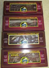 Lot of (4) MTH O-Scale Pennsylvania Railroad Box Cars NIB