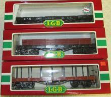 (3) LGB Flat Cars #s 4060 D&RGW, 4061 D&RGW, and 42690 C&S NIB