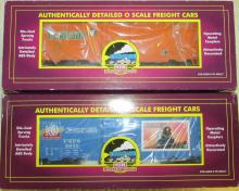 MTH O-Scale USPS Box Car and Tropicana Reefer Car NIB