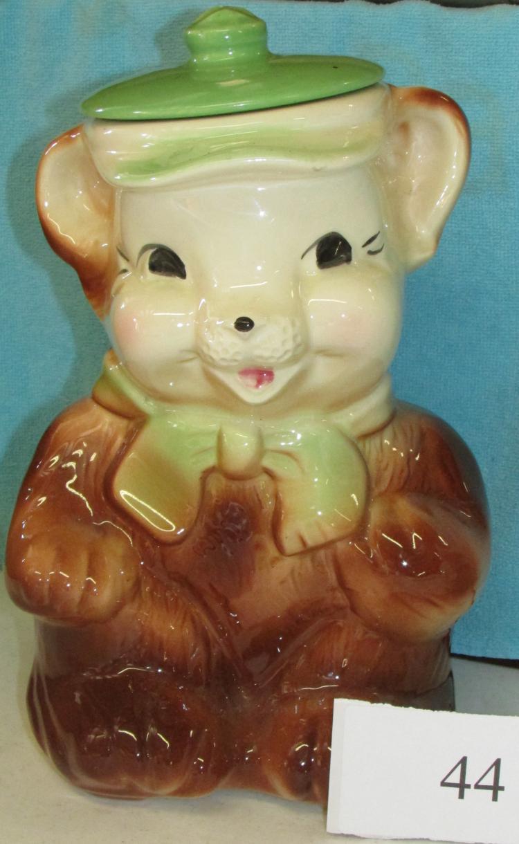 Lovely Usa Teddy Bear Cookie Jar