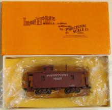 Precision Scale Brass HO PRR N6A Caboose - Painted