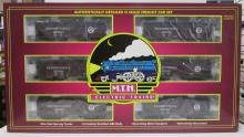 MTH 20-90078 PRR 2-Bay Offset Hopper 6-Car Set MIB