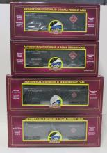 (4) MTH Railway Express Agency Reefer & Box Cars