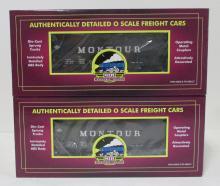 (2) MTH Montour 2-Bay Offset Hopper Cars w/ Coal