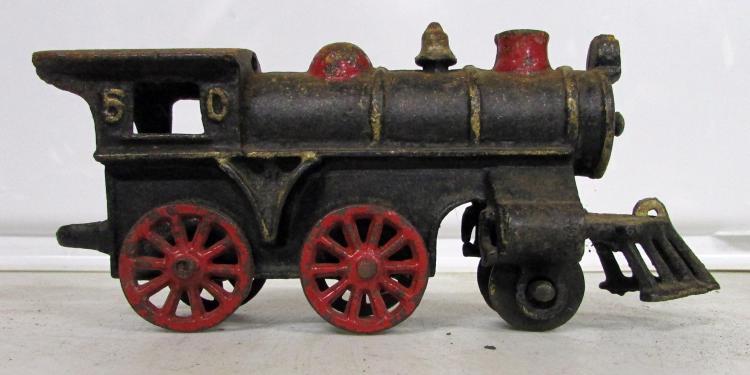 Nycrr Cast Iron Train: (3) Vintage Cast Iron Train Locomotives