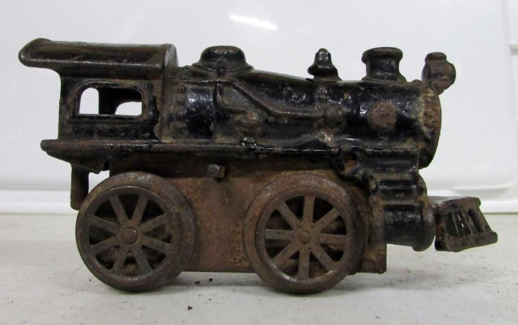 Nycrr Cast Iron Train: (3) Vintage Cast Iron Train Locomotives