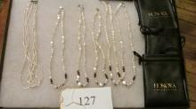 6 Beautiful Fresh Water Pearl Necklaces Sterling