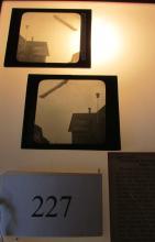 (2) Vintage Magic Lantern Slides Zeppelin Flies Over Germany