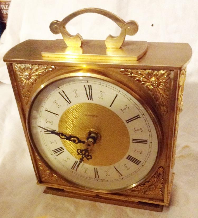Tempora Carriage Clock Brass Battery Operated