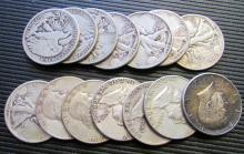 (14) Silver U.S. Half Dollars - $7 Face Value