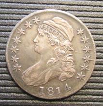 1814 Capped Bust Half Dollar O-107 Variety - XF