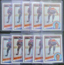 Lot of (10) 1984/85 Topps #51 Wayne Gretzky Cards