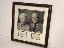 Queen Elizabeth II & Prince Philip Autograph Display