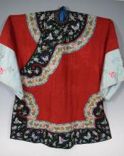 Chinese Qing Dynasty Embroidery Winter Silk Robe