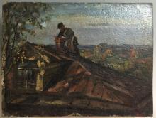 Russian Oil on Board Painting by Boskin