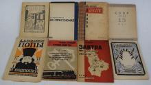 Eight Russian Pre WWII Avant garde Books