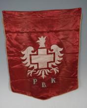 Polish white cross flag-organization for help polish troops in W
