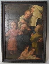 Late 18th Century Oil on Canvas Religious Painting