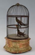 19th Century Large Cage Two Bird Music Box