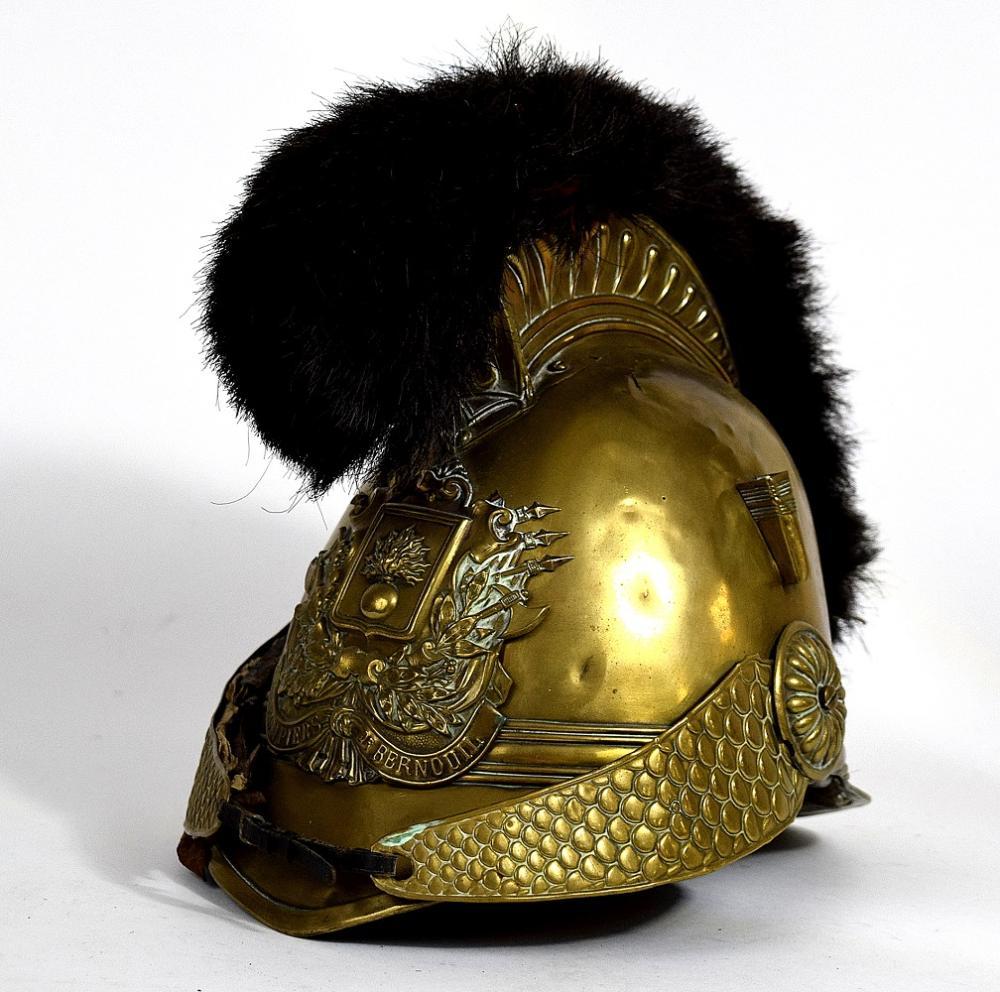 Ornate 19th C. French Pompiers Officer's Helmet