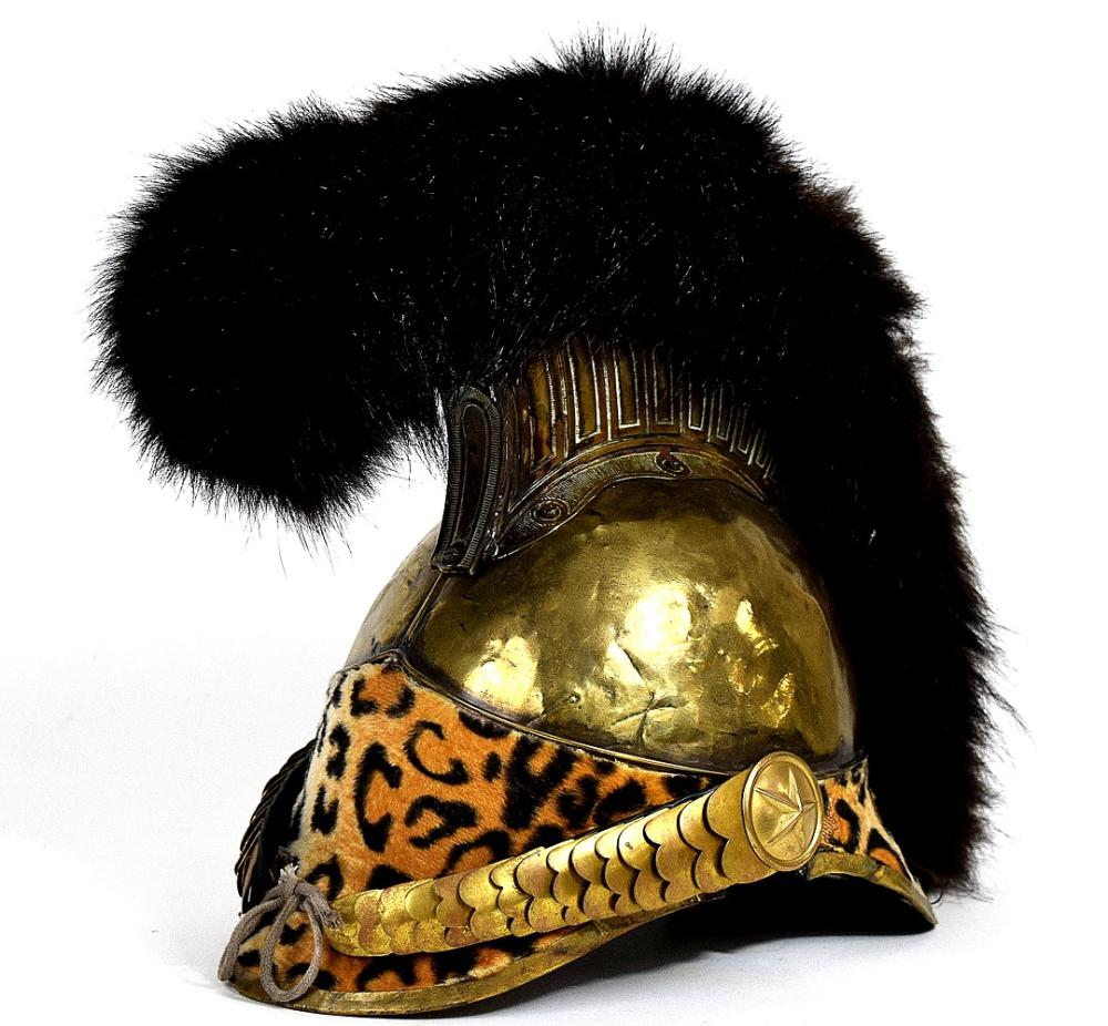 French 19th C. Cuirassier or Dragoon Officer's Helmet