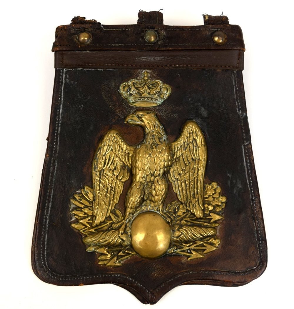 19th Century French Officer Leather Sabretache