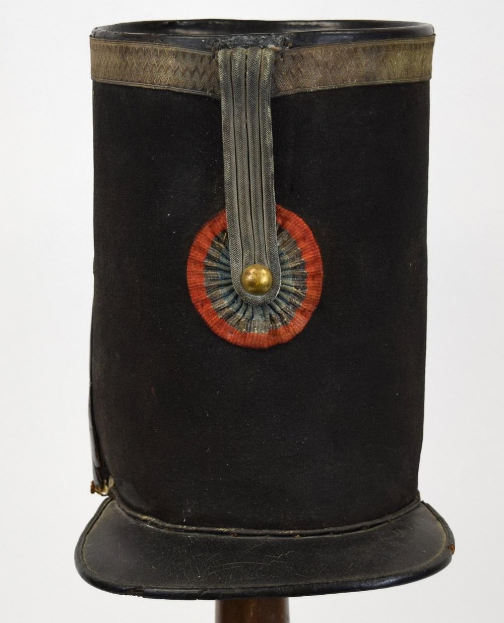 French 19th C. Military Officer's Shako Hat (Helmet)