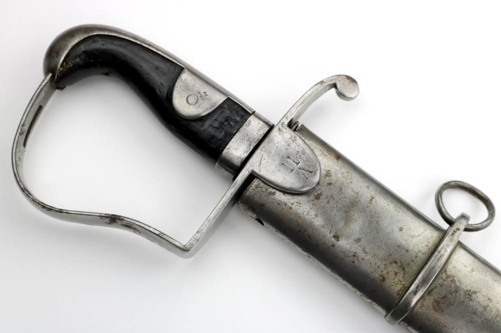 Scarce 1796 Model English British Cavalry Sword, Regiment Marked Guard and Scabbard, Maker Marked Blade