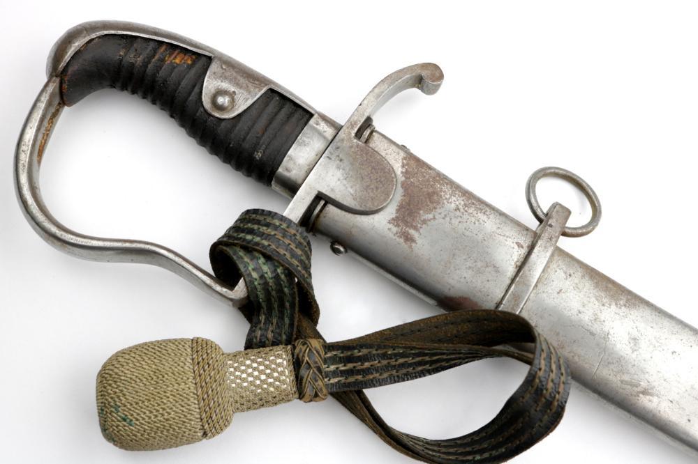 Unusual 1796 Model German Cavalry Sword with Regimentaly marked Hilt & Scabbard, Unusual Blade Markings