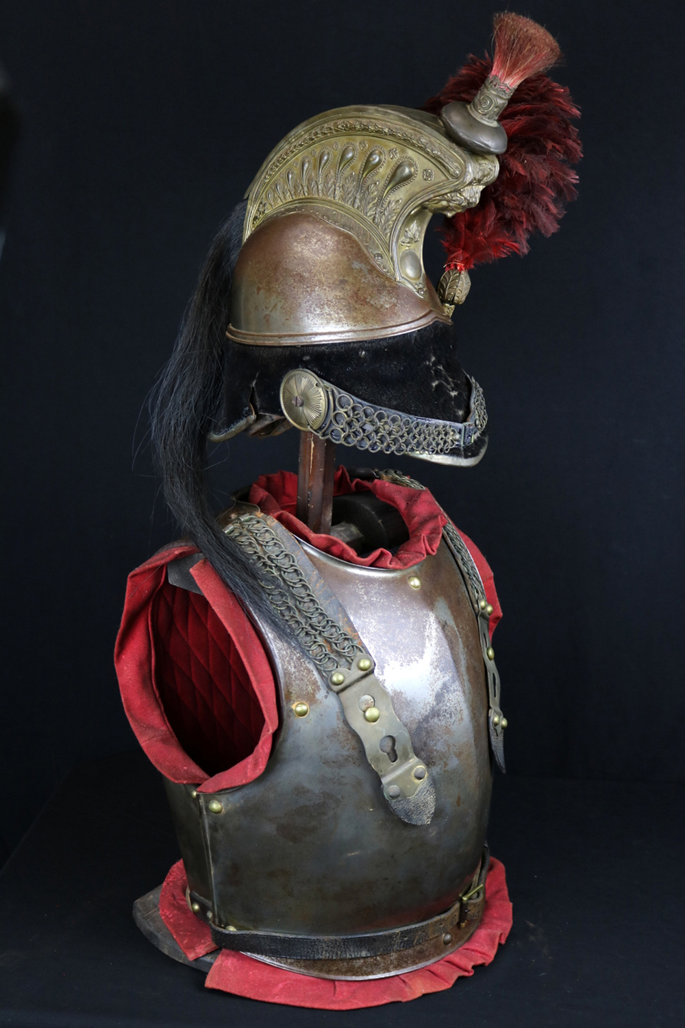 Nice Complete 1829-1851 Dated French Cuirassier's Cuirass & Helmet Armor Se