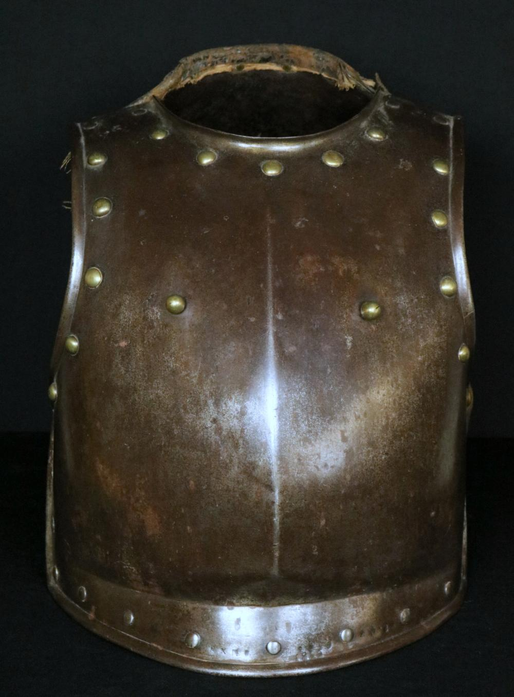 Dated 1816 French Napoleonic Era Trooper's Cuirass Armor