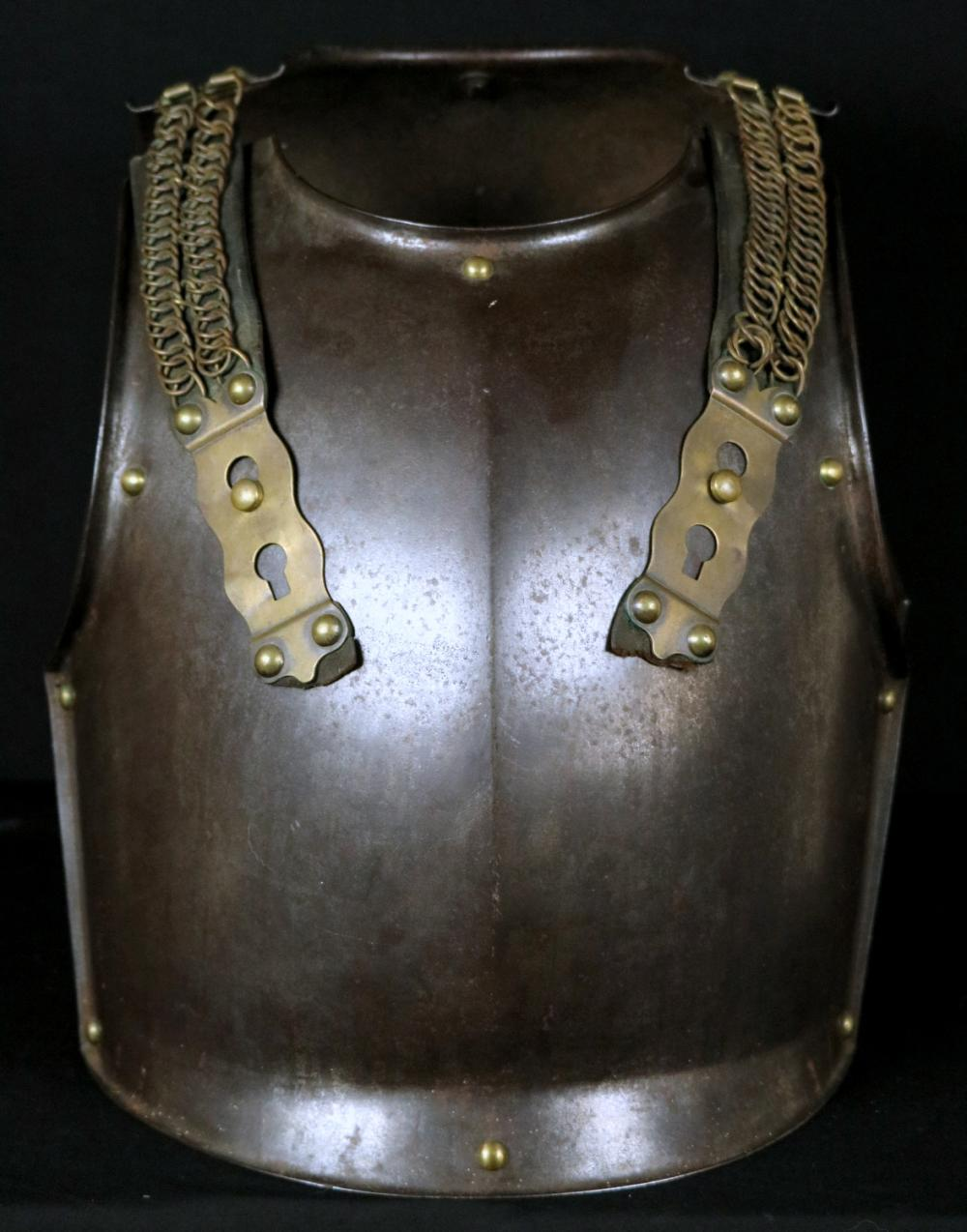 Complete French Napoleonic 1814 Dated Trooper's Cuirass Armor