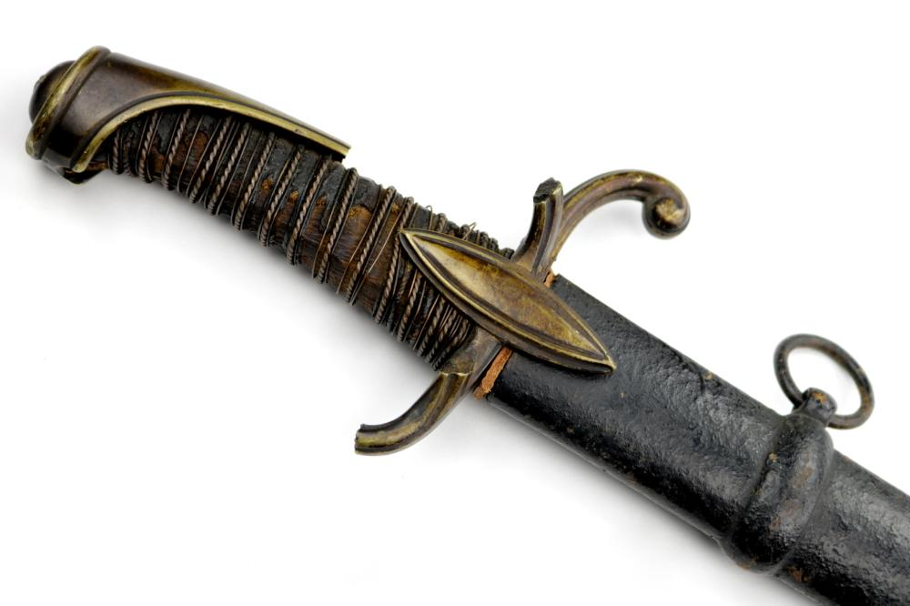 French Napoleonic era Officer's Sword with Engraved Quill-Back Blade