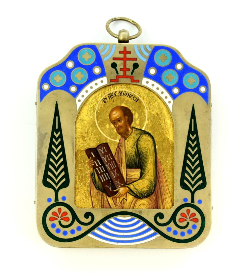 1905 Russian Silver Enamel Icon