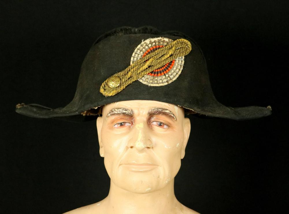 Russian Imperial 19th C. Government Official's or Diplomat's CHAPEAU Hat, with Original Maker Marked Liner.