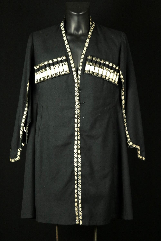 Russian Imperial 19th C. Caucasian Georgian Military CHOKHA (Cherkeska) Cossack Dress Uniform, Signed.