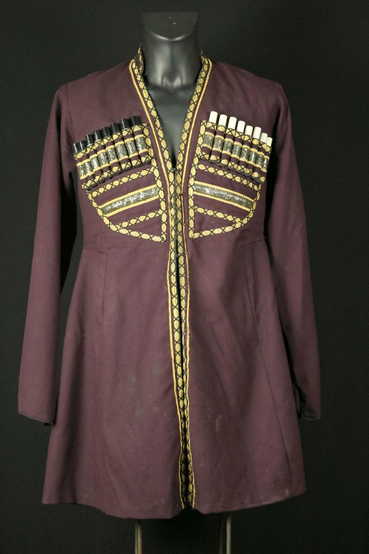 Rare Russian Imperial 19th C. Caucasian Georgian Military CHOKHA (Cherkeska) Cossack Dress Uniform with Powder Cartridges