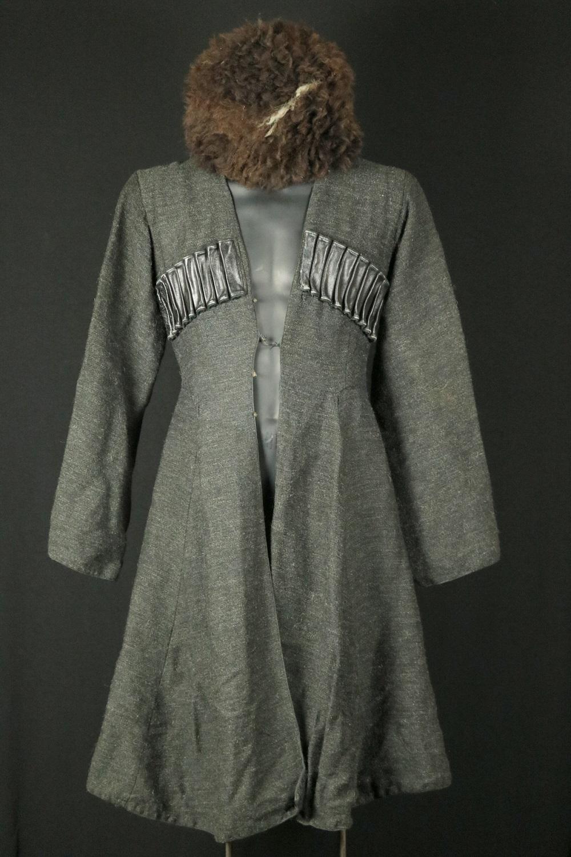 Russian Imperial 19th C. Caucasian Military CHOKHA (Cherkeska) Cossack Dress Uniform with PAPAHA Wool Hat.