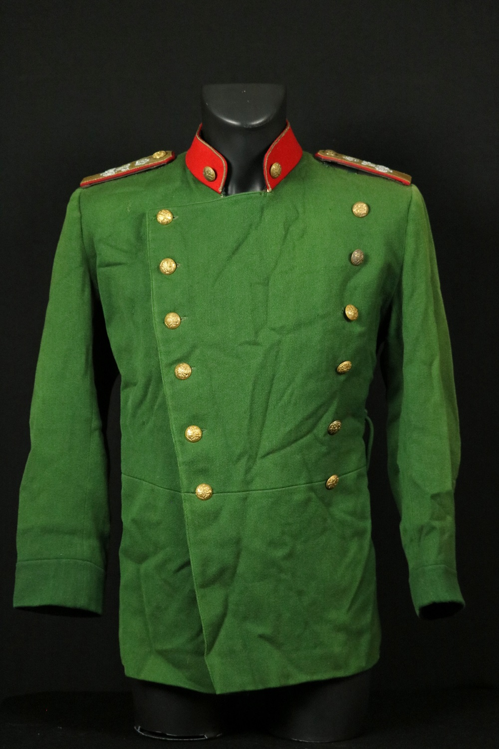Russian Imperial Army 19th C. to WW I Officer's Uniform Tunic with Shoulder Boards for Czar Nicholas II.