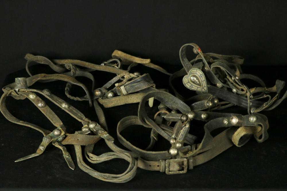 Russian Imperial 19th C. Caucasian Georgian or Chechen Horse Harness (Sbruya) with Niello Silver Mounts.