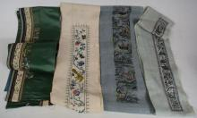 Four Pairs Qing Dynasty Chinese Sleeve Embroideries