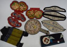 Ten Chinese Silk Embroidered pieces