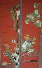 Pair of 19th Century Chinese Silk Embroidery Panels