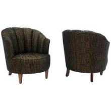 Barrel Scallop Back Ribbed Back Upholstery Wing Chairs NEW UPHOLSTERY