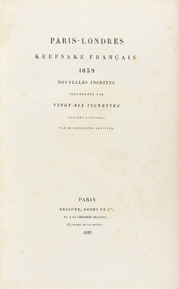1839-1842. LIBRO: (GRABADOS). PARIS-LONDRES KEEPSAKE FRANÇAIS 1839 NOUVELLE INÉDITES ILLUSTRÉES PAR
