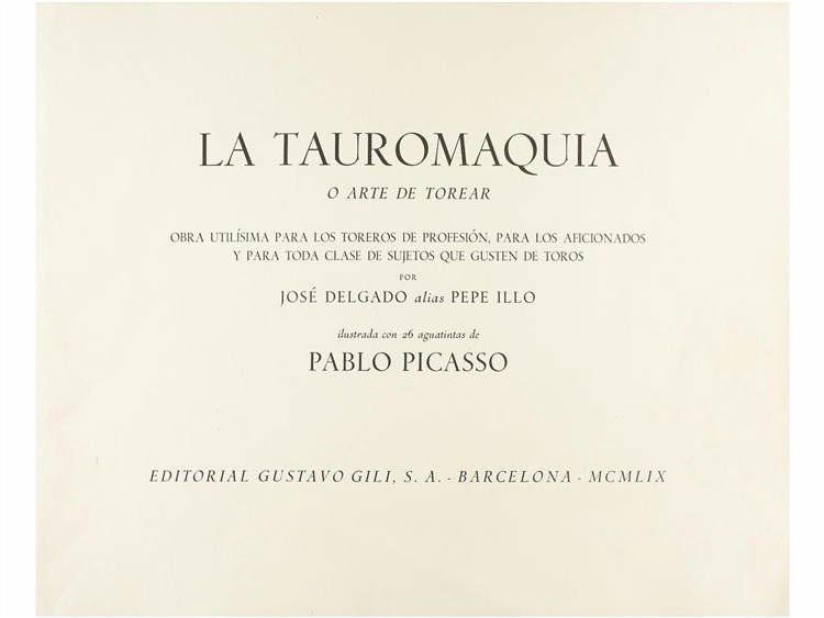 1959. LIBRO: (GRABADOS). DELGADO, JOSÉ, ALIAS PEPE ILLO: LA TAUROMAQUIA O ARTE DE TOREAR. OBRA UTILI