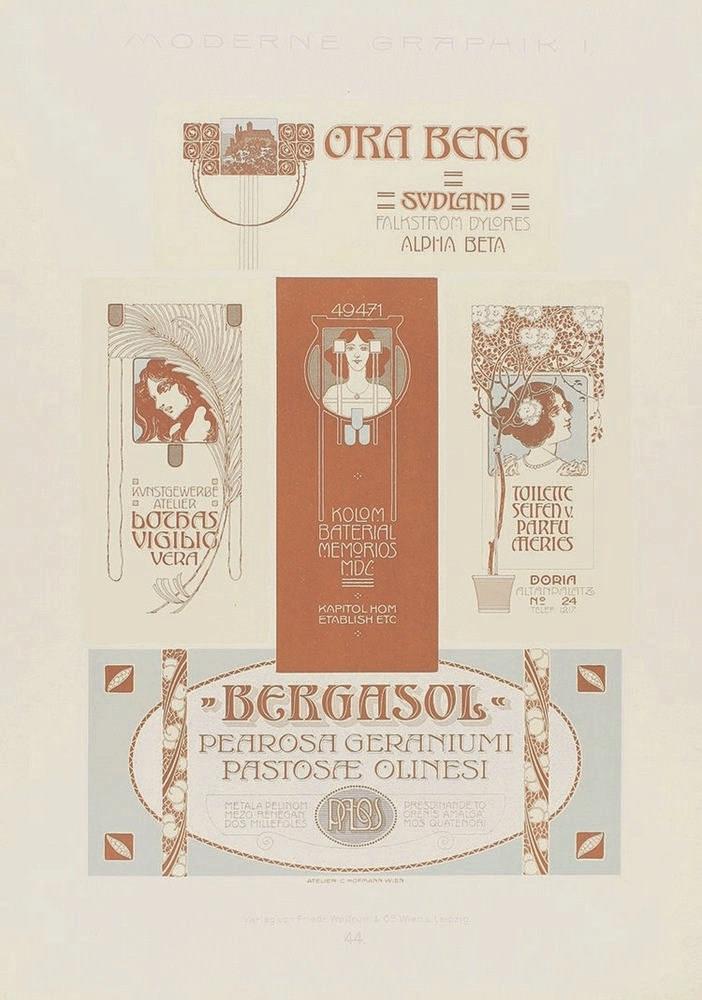 1909. GRABADO: (ARTE-MODERNISMO). MODERNE GRAPHIK. SERIE I. Wien, Leipzig: