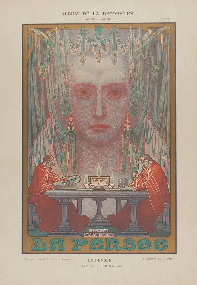 1900. GRABADO: (ARTE-MODERNISMO). ALBUM DE LA DECORATION. VOL. 2. Paris: Ed