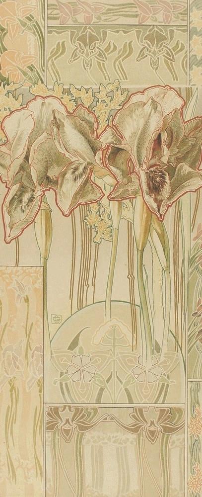 1900 ca. GRABADO: (ARTE-MODERNISMO). GORSCHEN, G.: FARBIGE PFLANZEN STUDIEN
