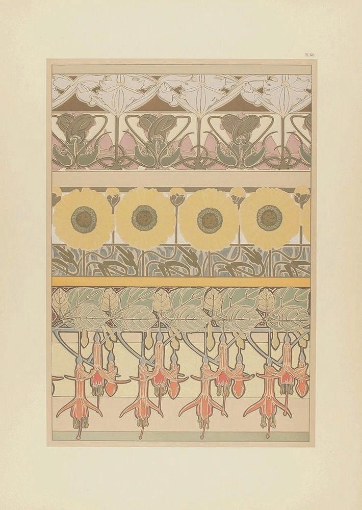 1901. GRABADO: (ARTE-MODERNISMO). MUCHA, A. M.: DOCUMENTS DÉCORATIFS. Panne